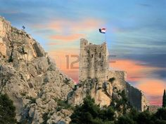 tower in Omis, Croatia