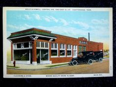 1930's The Kelly & Powell Cleaners in Chattanooga, TN Tennessee PC