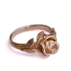 THIS. If a Man ever presents me with this..He's the one because he knows me too well. <3 || 18K Rose Gold and Diamond engagement ring