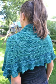 Ravelry: Quaker Ridge Shawlette pattern by Susan B. Anderson. For sale on Ravelry.