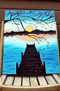 painting ideas on canvas;acrylic canvas painting ideas; DIY painting for beginners; Easy Canvas Painting, Acrylic Canvas, Easy Paintings, Diy Painting, Painting & Drawing, Canvas Paintings, Watercolor Canvas, How To Paint Canvas, Decorative Paintings