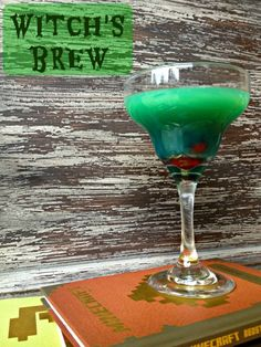 Witch's Brew  blue curacoa, orange & pineapple juice and tequila make a spooky drink. via @mamakatslosinit