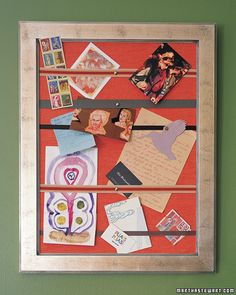 Learn how to transform any frame into a custom bulletin board.