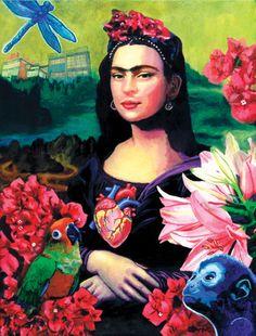 Mona Kahlo Frida Lisa  By Michael Cuffe
