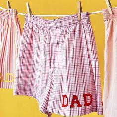 Jazz up Dad's favorite boxer shorts