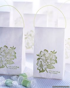 stamped party favour bags