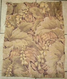Unusual Antique French Tapestry Brocade Fabric by RuinsCa on Etsy, $55.00