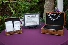 Time Capsule:  People write notes to the bride and groom to open at a later date.