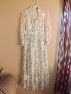 Gunne Sax Dress by Jessica San Francisco 70's Lace Prairie Size 11 Juniors | eBay
