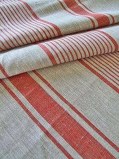 We can easily see this linen transformed into a pretty table runner. #countryliving
