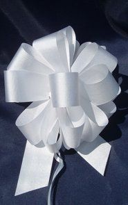 10 Pull String Bows - Gift Wrap Packaging - 5' 20 Loops - 1 1/4' - White *** Read more reviews of the product by visiting the link on the image.