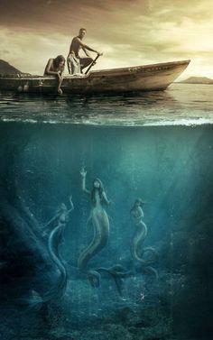 mermaid by Vasylina on deviantART * Mermaid Myth Mythical Mystical Legend Mermaids Siren Fantasy Ocean Sea Enchantment Sirens Sirena Mythological Creatures, Fantasy Creatures, Mythical Creatures, Sea Creatures, Siren Mermaid, Mermaid Art, Dark Mermaid, Mermaid Paintings, Mermaid Images