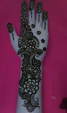 Very Simple Mehndi Designs, Mehndi Designs Front Hand, Henna Tattoo Designs Simple, Latest Bridal Mehndi Designs, Stylish Mehndi Designs, Full Hand Mehndi Designs, Mehndi Designs Book, Mehndi Designs For Girls, Mehndi Designs For Beginners