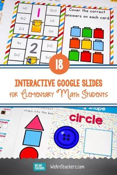 18 Free and Fun Interactive Google Slides for Elementary Math Students. Young learners benefit from hands-on work with math manipulatives. Interactive Google Slides make that possible in person and online. Math Teacher, Teaching Math, Hands On Activities, Math Activities, Math Manipulatives, Early Math, Thinking Skills, Elementary Math, Math Centers