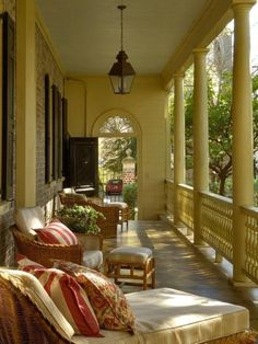 Classic southern porch (1) From: Daily Diva Dish, please visit