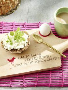 Ein gesundes Frühstück sorgt für einen guten Start in den Tag, mit den richtigen Küchen-Accessoires geht das noch besser. Wie wäre es mit diesem Frühstücksbrett?