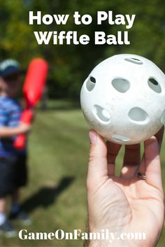 Prepping your kiddos for baseball or softball? Start them out with wiffle ball - a light weight version of those games. Learn how to play wiffleball at www.GameOnFamily.com. Game on!