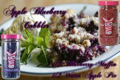 Apple Blueberry Cobbler Recipe Get it at www.pinkzebrahome.com/lifeisbetterwithsprinkles