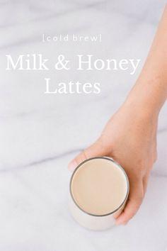 cold brew milk and honey latte