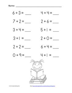 Mixed Addition and Subtraction Worksheets with cut apart