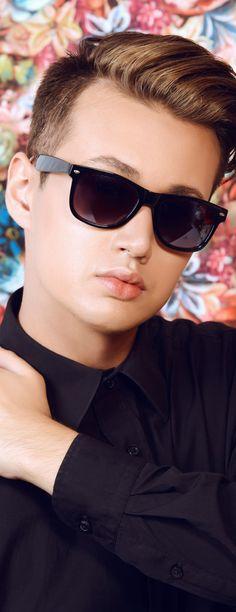 741828b83ce60 Men s Black Rectangular Sunglasses Sunglasses Shop