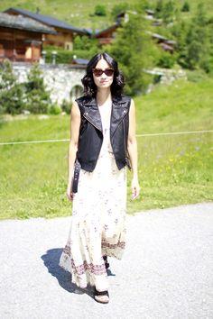 Vogavoe - Moto Vest Lace Skirt, Vest, Real People, Skirts, Fashion, Moda, Fashion Styles, Skirt, Fashion Illustrations