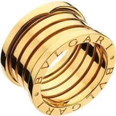 b0010e50f3a anel bulgary banho de ouro e zirconeas AAAA Aliança Bulgari