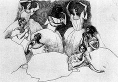 Seven ballerinas - Pablo Picasso