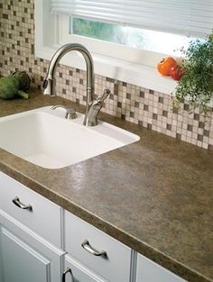 Under Mount Sink With Formica Counters. #Formica #kitchen #bathroom # Laminate #