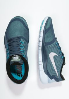 quality design a05aa 7b2ea Nike Performance FREE 5.0 FLASH - Chaussures de course neutres - squadron  blue reflect silver blue lagoon - ZALANDO.FR