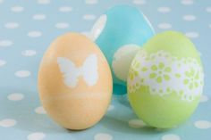 Easter eggs - I'm definitely trying this with some of the stickers we have around the house. So cute!