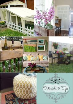 25 Tutorials & Tips that are DIY friendly and inspiring. Fantastic collection of blogger's best.