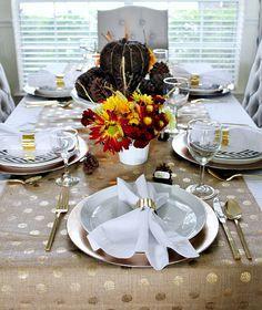 Natural & Glam Fall table by hi sugarplum!, via Flickr