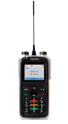This is the tasty new Hytera X1e, one of the most high tech two way radios (walkie talkies) around. Plus it's only 18mm thin!