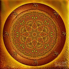 Prosperity mandala - mandala art by Giada Rossi by Giada Rossi Fine Art Prints, Canvas Prints, Fractal Patterns, Orange Art, Sacred Art, Mandala Art, Artist At Work, Fine Art Photography, Art For Sale