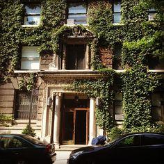6/20/2012:  #UWS Upper West Side pre-war classic building. Doric columns. Photo by @aaronswwadventures