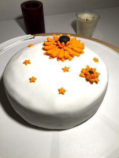 Fondant cake with gerbera flowers