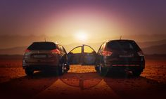 """You had me at """"Let's go."""" The Nissan Rogue and Pathfinder are perfect for adventures with that special someone."""