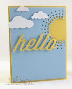 Create With Me: Hello Sunshine!  I made this summertime card using dies from Memory Box and Papertrey Ink.