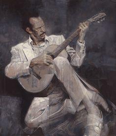 """""""Warren Oates Plays Guitar"""" by Sebastian Krüger"""