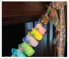 An Easter garland made from Peeps
