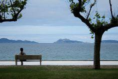 Islas Cies desde la Playa de Samil (Vigo)