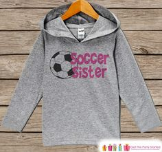 This adorable soccer hoodie is a perfect for the little one in your life! Our graphics are professionally printed directly onto the fabric for bright and vibrant designs which will last, the colors wi
