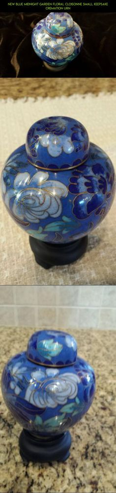 NEW Blue Midnight Garden Floral Cloisonne Small Keepsake Cremation Urn #products #kit #technology #drone #racing #tech #shopping #plans #gadgets #camera #urns #fpv #gardening #parts