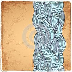 Blue Vintage Waves Illustration - Download From Over 35 Million High Quality Stock Photos, Images, Vectors. Sign up for FREE today. Image: 37790786