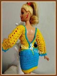#Doll #Crochet #Saia #Skirt #Barbie #RaquelGaucha