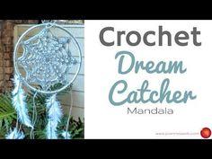 Crochet Dream Catcher Mandala - Dorm Room Decor - DIY Home Decor - YouTube