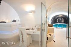 The Infinity Suite - Indoor and Outdoor heated plunge pools with jacuzzi - Dana Villas Santorini Hotel, Firostefani, Santorini, Greece   Book Online