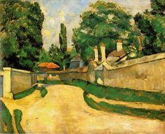 Houses along a road, Paul Cezanne.