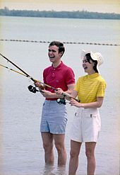Julie Nixon Eisenhower (born July 5, 1948) is the younger daughter of 37th U.S. President Richard M. Nixon and First Lady Pat Nixon, and sister to Patricia Nixon Cox. In 1968, she married David Eisenhower, grandson of former President Dwight D. Eisenhower. She is the mother of two daughters, Jennie Elizabeth and Melanie Catherine, and a son, Alexander Richard.